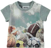 Molo Earl Autumn Play Jersey Tee, Gray, Size 12-24 Months