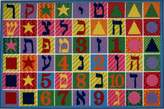 """Fun Rugs Hebrew Numbers and Letters Kids Rug 39x58"""""""