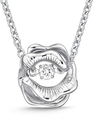 Memoire 18K 0.06 Ct. Tw. Diamond Dancing Necklace