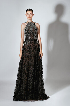 Beside Couture by GEMY Sleeveless Lace Bodice Evening Gown