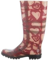 Burberry Heart Check Rain Boots