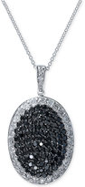 Effy Black and White Diamond Pendant Necklace (1-5/8 ct. t.w.) in 14k White Gold