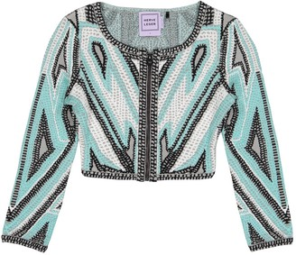 Herve Leger Turquoise Jacket for Women
