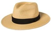 Bioworld Men's Rolled Panama Hat Straw