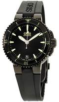 Oris Aquis 73376524722RS Date Black Dial Silicone Strap 36mm Unisex Watch