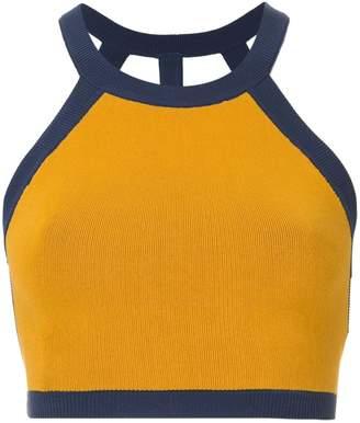 Nagnata strap back crop sports top