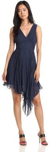 Max & Cleo Women's V-Neck Ruffle Dress