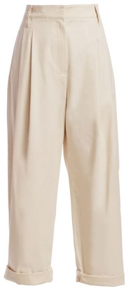 Brunello Cucinelli Relaxed Twill Pleated Pants