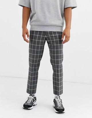 Noak check pants in gray