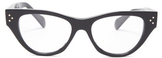 Celine Cat-eye Acetate Glasses - Black