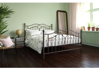 DHP Tokyo Metal Bed, Full Size Frame with Underbed Storage, Bronze