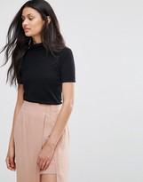 Lavand Short Sleeve High Neck Knit T-shirt