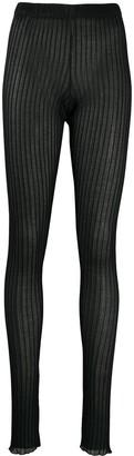 Jil Sander Ribbed Knit Leggings