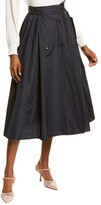 Thumbnail for your product : Max Mara Cinese Silk-Blend A-Line Skirt