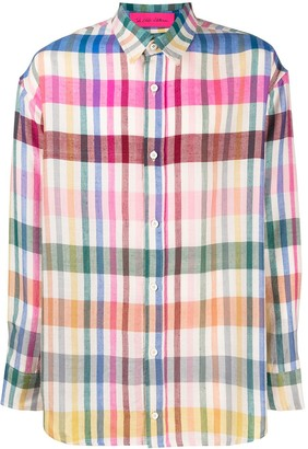 The Elder Statesman Check-Print Cashmere Shirt