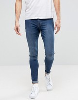 Cheap Monday Jeans Mid Spray Extreme SuperStretch Skinny Fit Dim Blue