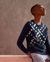 Ted Baker Woven front cotton jumper