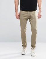 Asos Super Skinny Jeans In Light Green