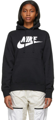 Nike Black Graphic Sportswear Club Hoodie