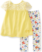 Juicy Couture Yellow Cap-Sleeve Top & Floral Leggings - Toddler & Girls