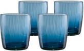 Artland Blue Slate Pebbles Glass - Set of Four