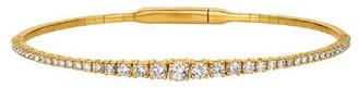 Forever Creations Usa Inc. Forever Creations 14K 0.95 Ct. Tw. Diamond Flexible Bangle Bracelet