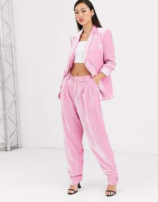Rachel Antonoff bea pleated velvet trousers
