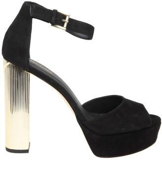 Michael Kors Paloma Sandal In Black Suede