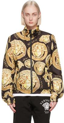 Versace Black Medusa Amplified Windbreaker Jacket