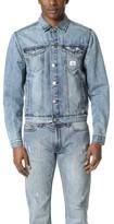 Calvin Klein Jeans Reissue Logo Denim Trucker Jacket