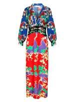 RIXO LONDON FEDORA Mixed Cherry Blossom Midi Dress