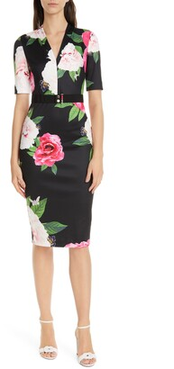 Ted Baker Gilanno Magnificent V-Neck Dress