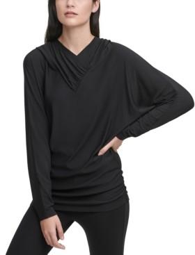 DKNY Draped Dolman-Sleeve Hoodie