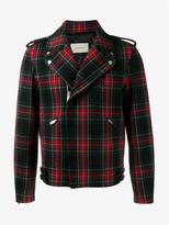 Gucci Tartan Wool Biker Jacket