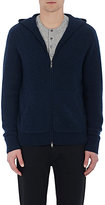 Vince Men's Cashmere Hooded Sweater-BLUE