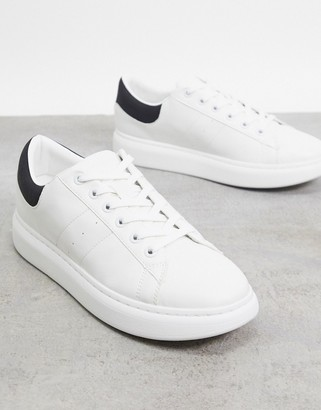 Jack and Jones trainer with chunky sole in white