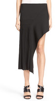 Anthony Vaccarello Asymmetrical Pleated Skirt