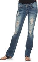 Hydraulic Juniors' Bailey Fleur De Lis Ripped Bootcut Jeans