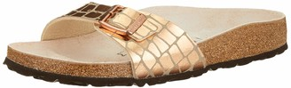 Birkenstock Mules Madrid Microfibre Gator Gleam Copper Womens Sandal