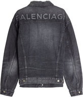Balenciaga Distressed Denim Jacket
