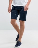 Jack & Jones Intelligence Chino Shorts In Regular Fit With Anchor Print