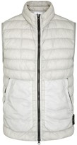 Stone Island Pale Grey Quilted Shell Gilet