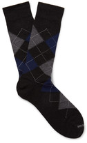 Marcoliani - Argyle Merino Wool-blend Socks