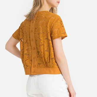La Redoute Collections Laced Boxy Top