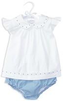 Ralph Lauren Infant Girls' Embroidered Poplin Top & Bloomer Set - Sizes 3-24 Months