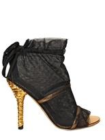 Dolce & Gabbana 110mm Tulle & Mirror Sandals