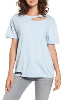 Topshop Women's Ripped Cotton Tee