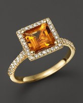Bloomingdale's Citrine and Diamond Ring in 14K Yellow Gold