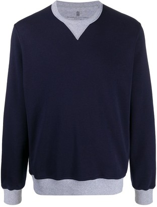 Brunello Cucinelli Contrast-Trimmed Relaxed-Fit Sweatshirt