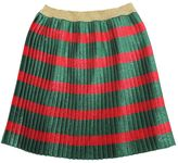 Gucci Silk Lurex Blend Pleated Web Skirt